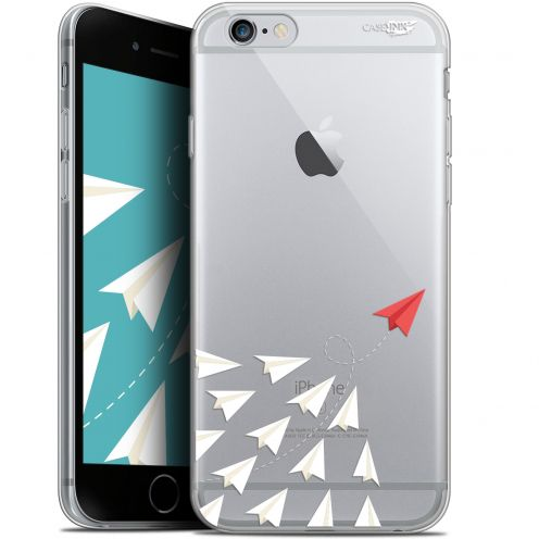 "Coque Gel Apple iPhone 6/6s (4.7"") Extra Fine Motif -  Papier Volant"