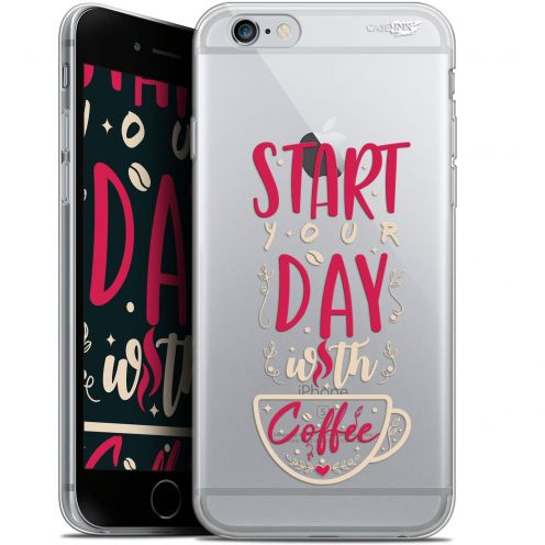 "Coque Gel Apple iPhone 6/6s (4.7"") Extra Fine Motif - Start With Coffee"