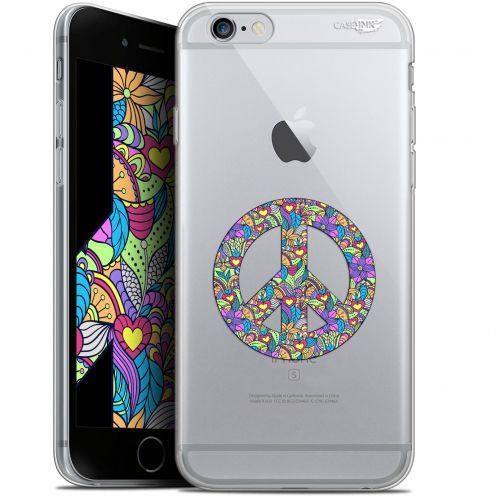 "Coque Gel Apple iPhone 6/6s (4.7"") Extra Fine Motif -  Peace And Love"