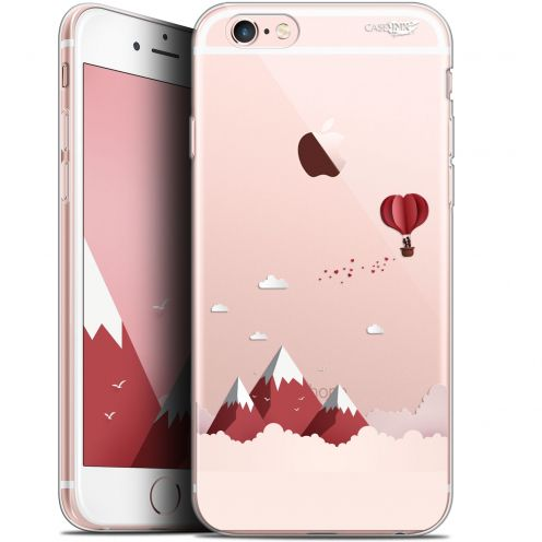 "Coque Gel Apple iPhone 6/6s (4.7"") Extra Fine Motif - Montagne En Montgolfière"