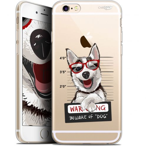 "Coque Gel Apple iPhone 6/6s (4.7"") Extra Fine Motif - Beware The Husky Dog"
