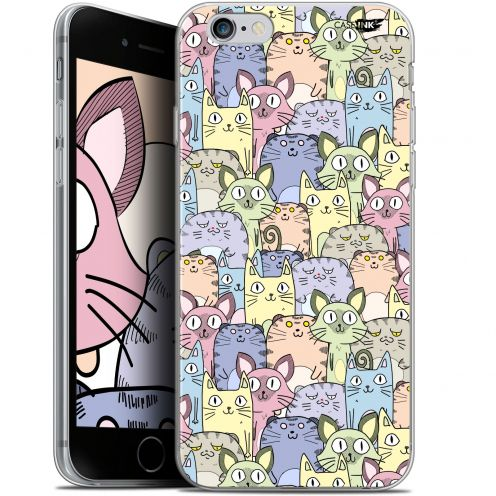 "Coque Gel Apple iPhone 6 Plus/ iPhone 6s Plus (5.5"") Extra Fine Motif - Foule de Chats"
