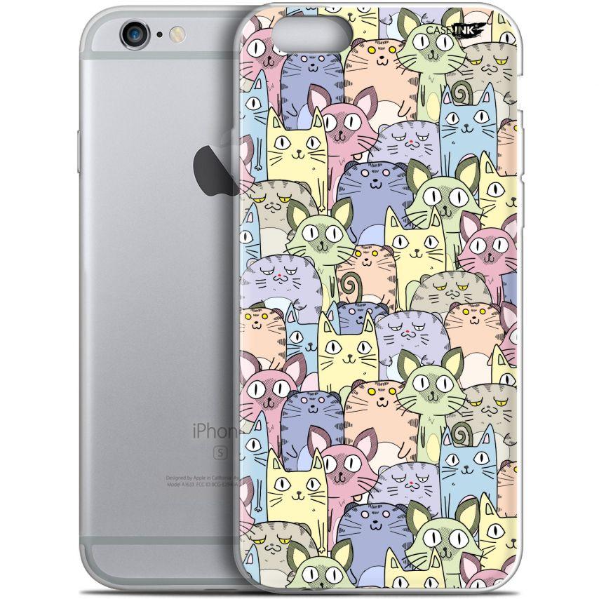 """Coque Gel Apple iPhone 6 Plus/ iPhone 6s Plus (5.5"""") Extra Fine Motif - Foule de Chats"""