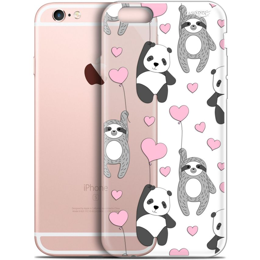 "Coque Gel Apple iPhone 6 Plus/ iPhone 6s Plus (5.5"") Extra Fine Motif - Panda'mour"