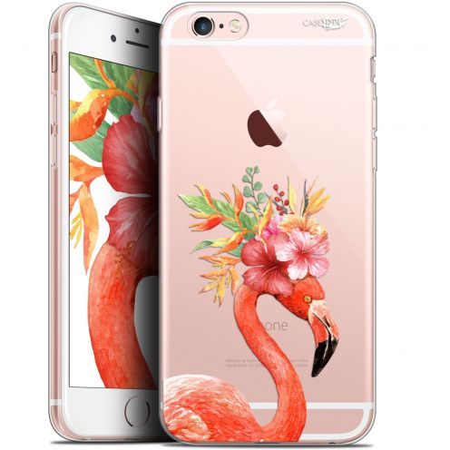 "Coque Gel Apple iPhone 6 Plus/ iPhone 6s Plus (5.5"") Extra Fine Motif -  Flamant Rose Fleuri"