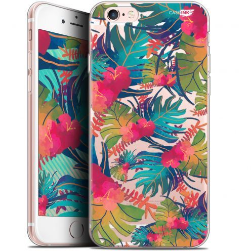 "Coque Gel Apple iPhone 6 Plus/ iPhone 6s Plus (5.5"") Extra Fine Motif -  Couleurs des Tropiques"