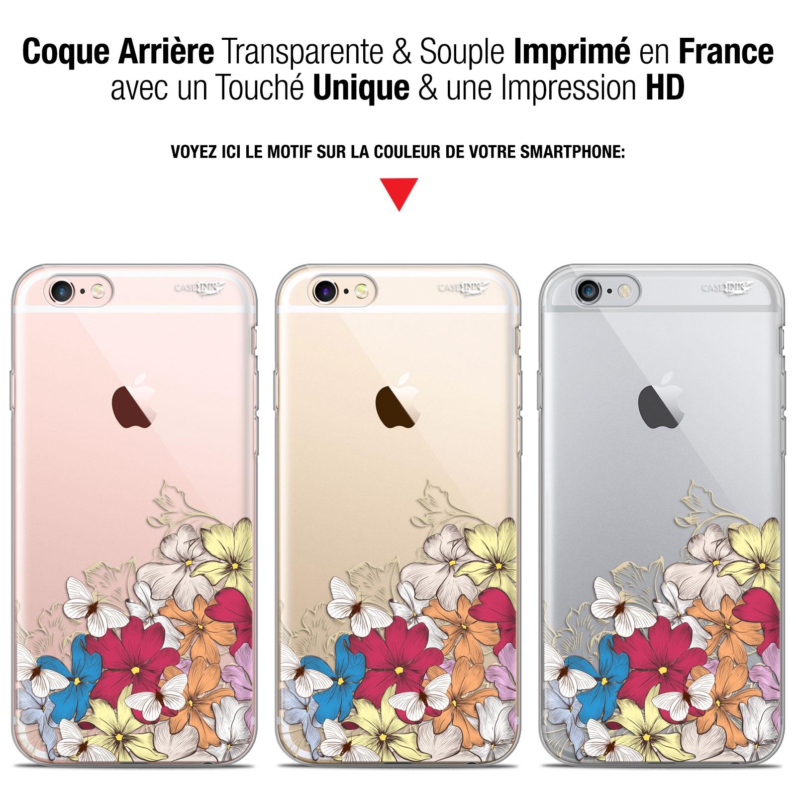 coque gel apple iphone 6 plus iphone 6s plus 55 extra fine motif nuage floral
