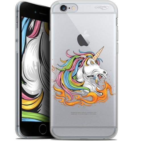 "Coque Gel Apple iPhone 6 Plus/ iPhone 6s Plus (5.5"") Extra Fine Motif -  Licorne de Feu"