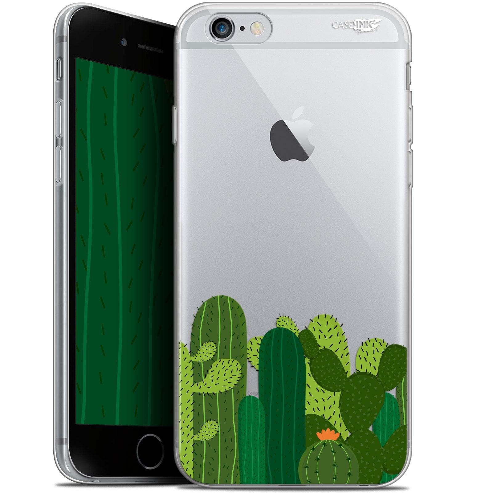 coque gel apple iphone 6 plus iphone 6s plus 55 extra fine motif cactus