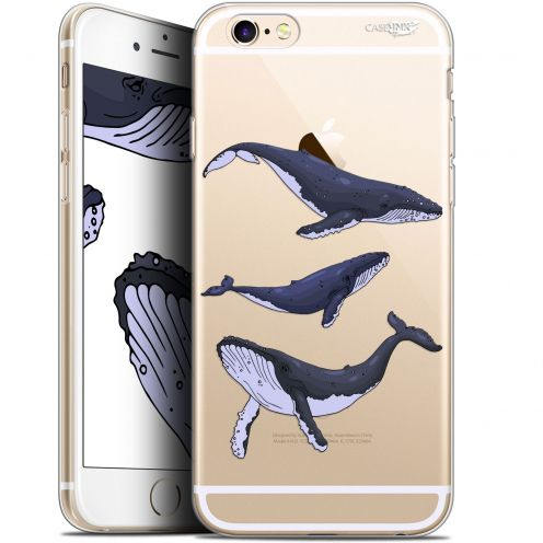 "Coque Gel Apple iPhone 6 Plus/ iPhone 6s Plus (5.5"") Extra Fine Motif - Les 3 Baleines"