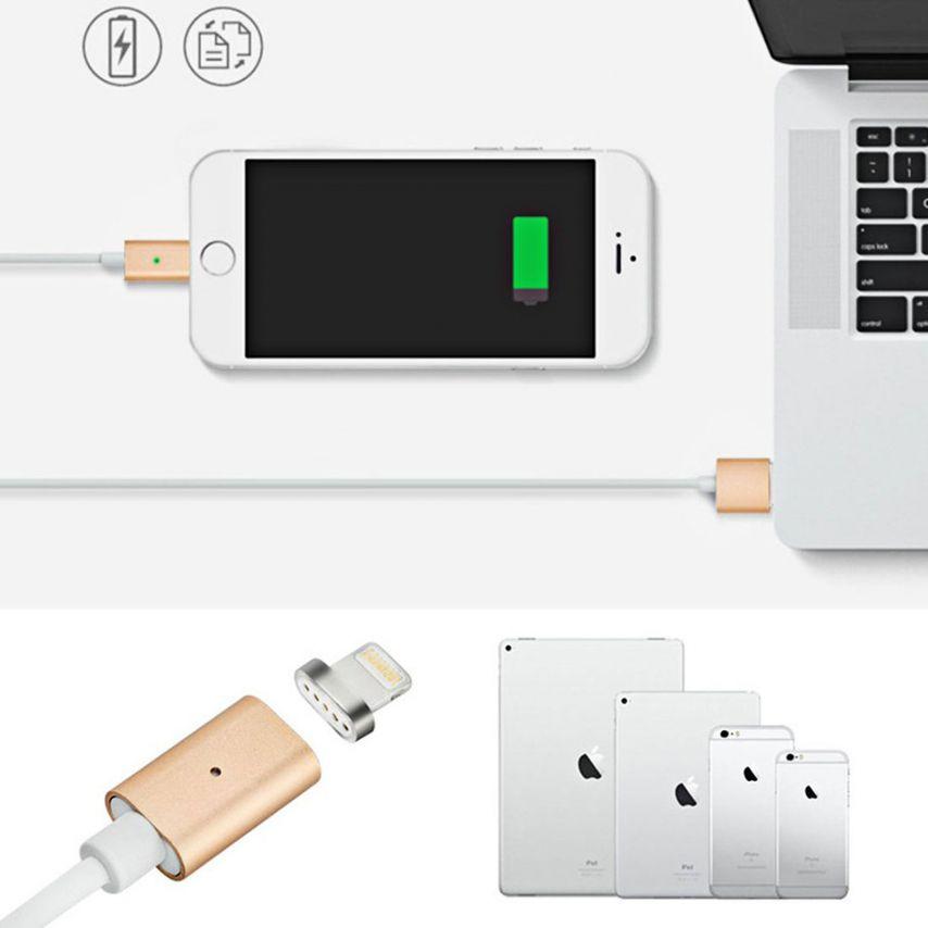 Câble USB à 8 Pins iOS9 1m 3A MagSafe Magnet Blindé - iPhone 6S/6 Plus/5/S/C Or