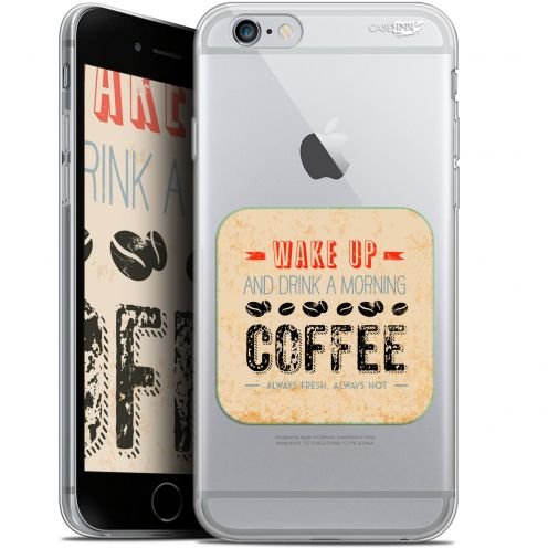 "Coque Gel Apple iPhone 6 Plus/ iPhone 6s Plus (5.5"") Extra Fine Motif -  Wake Up With Coffee"