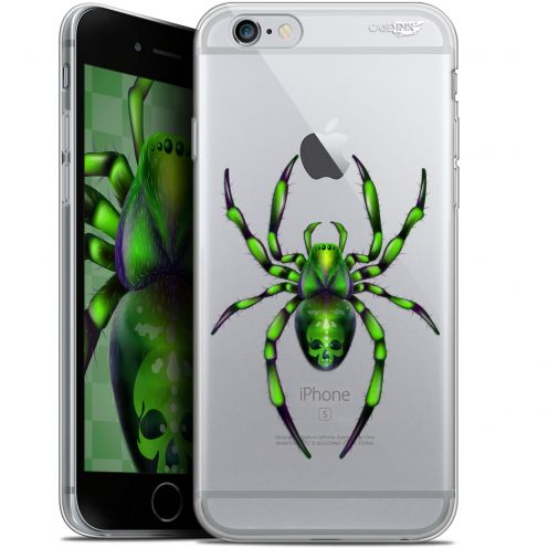 "Coque Gel Apple iPhone 6 Plus/ iPhone 6s Plus (5.5"") Extra Fine Motif -  Arraignée Verte"