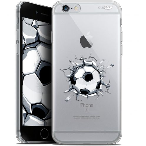 "Coque Gel Apple iPhone 6 Plus/ iPhone 6s Plus (5.5"") Extra Fine Motif -  Le Balon de Foot"