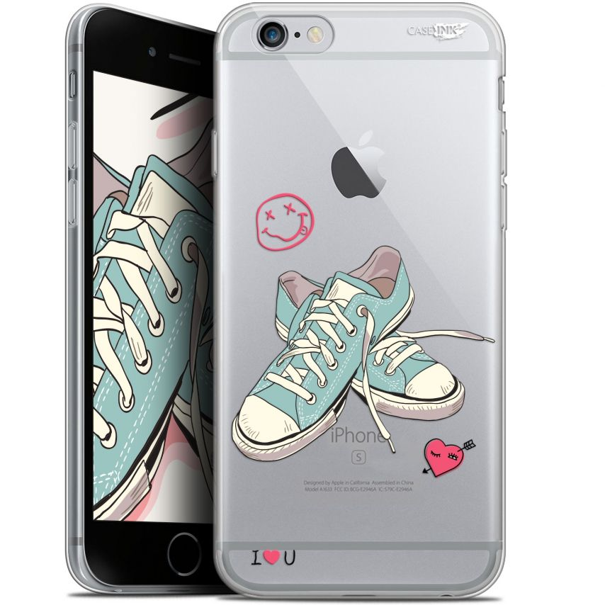"Coque Gel Apple iPhone 6 Plus/ iPhone 6s Plus (5.5"") Extra Fine Motif -  Mes Sneakers d'Amour"