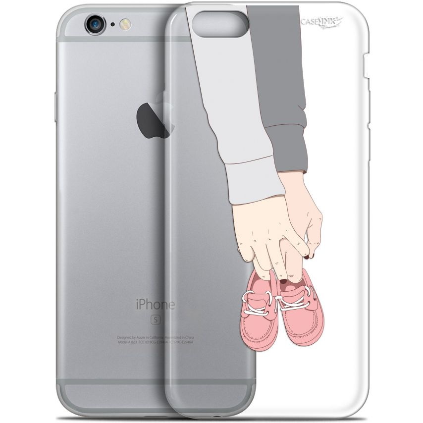 "Coque Gel Apple iPhone 6 Plus/ iPhone 6s Plus (5.5"") Extra Fine Motif - A Deux Mon Bébé"