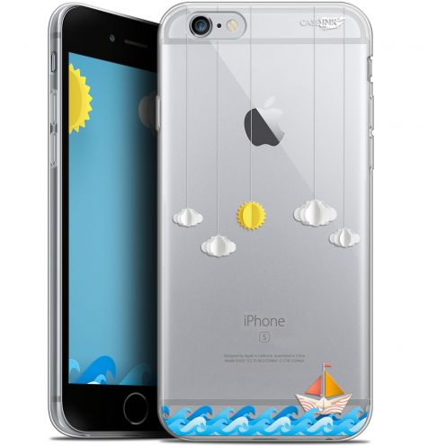 "Coque Gel Apple iPhone 6 Plus/ iPhone 6s Plus (5.5"") Extra Fine Motif - Petit Bateau en Mer"