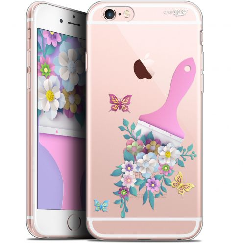"Coque Gel Apple iPhone 6 Plus/ iPhone 6s Plus (5.5"") Extra Fine Motif - Pinceau à Fleurs"