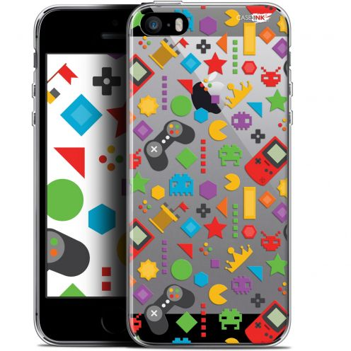"Coque Gel Apple iPhone 5/5s/SE (4"") Extra Fine Motif - PacMan"