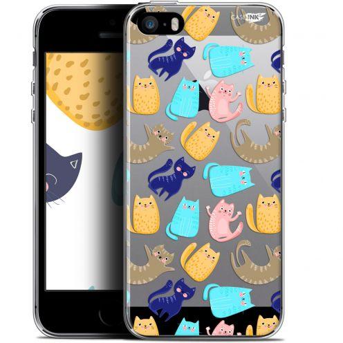 "Coque Gel Apple iPhone 5/5s/SE (4"") Extra Fine Motif - Chat Danse"