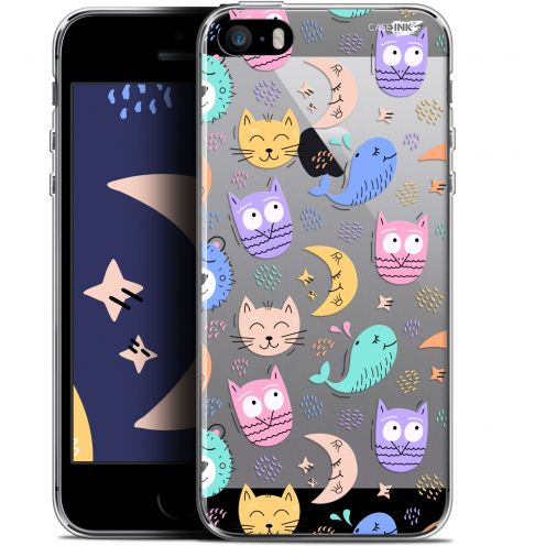 "Coque Gel Apple iPhone 5/5s/SE (4"") Extra Fine Motif -  Chat Hibou"