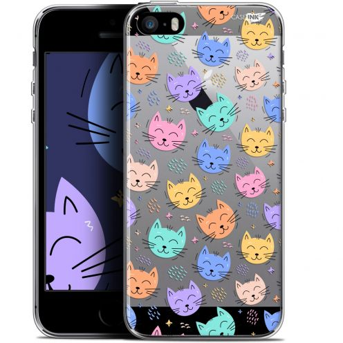 "Coque Gel Apple iPhone 5/5s/SE (4"") Extra Fine Motif -  Chat Dormant"