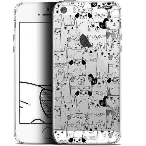 "Coque Gel Apple iPhone 5/5s/SE (4"") Extra Fine Motif - Chien Noir"
