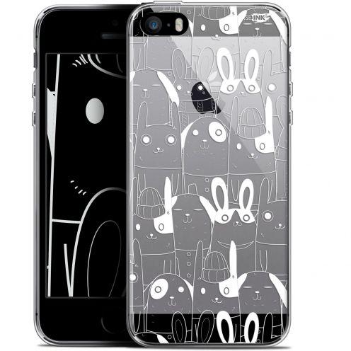 "Coque Gel Apple iPhone 5/5s/SE (4"") Extra Fine Motif -  Lapin Blanc"