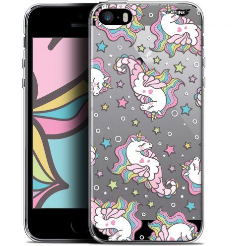 "Coque Gel Apple iPhone 5/5s/SE (4"") Extra Fine Motif - Licorne Dormante"