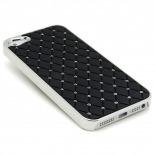 Visuel supplémentaire de Coque iPhone 5 Luxury Satin & Diamant Noire