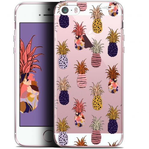 "Coque Gel Apple iPhone 5/5s/SE (4"") Extra Fine Motif -  Ananas Gold"