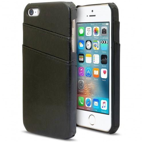 Coque Apple iPhone SE/5s/5 Business Series Porte-Carte Arrière Noir