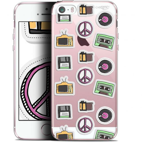 "Coque Gel Apple iPhone 5/5s/SE (4"") Extra Fine Motif -  Vintage Stickers"