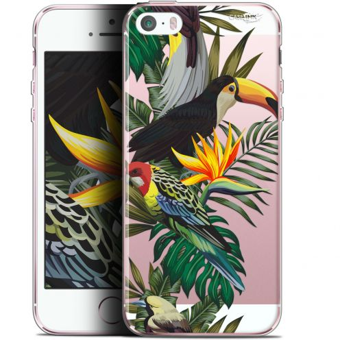 "Coque Gel Apple iPhone 5/5s/SE (4"") Extra Fine Motif -  Toucan Tropical"