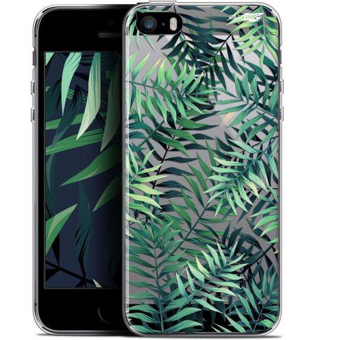 """Coque Gel Apple iPhone 5/5s/SE (4"""") Extra Fine Motif - Feuilles des Tropiques"""