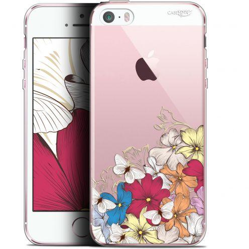 "Coque Gel Apple iPhone 5/5s/SE (4"") Extra Fine Motif -  Nuage Floral"