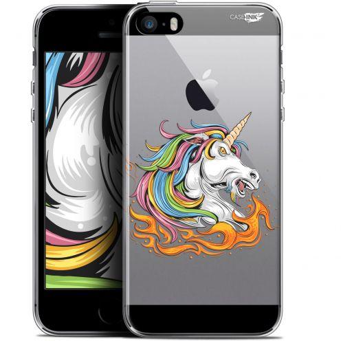 """Coque Gel Apple iPhone 5/5s/SE (4"""") Extra Fine Motif - Licorne de Feu"""