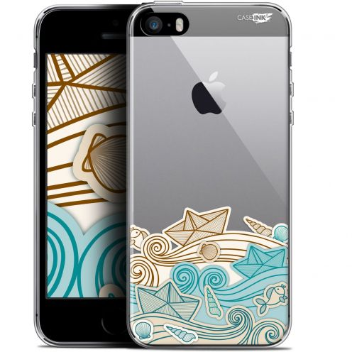 "Coque Gel Apple iPhone 5/5s/SE (4"") Extra Fine Motif -  Bateau de Papier"