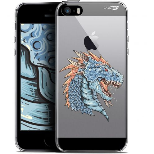 "Coque Gel Apple iPhone 5/5s/SE (4"") Extra Fine Motif -  Dragon Draw"