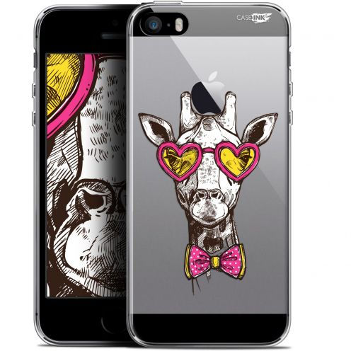 "Coque Gel Apple iPhone 5/5s/SE (4"") Extra Fine Motif - Hipster Giraffe"