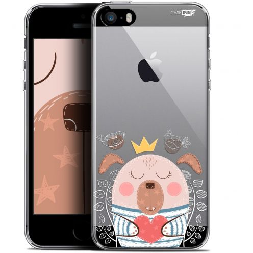 "Coque Gel Apple iPhone 5/5s/SE (4"") Extra Fine Motif -  Sketchy Dog"