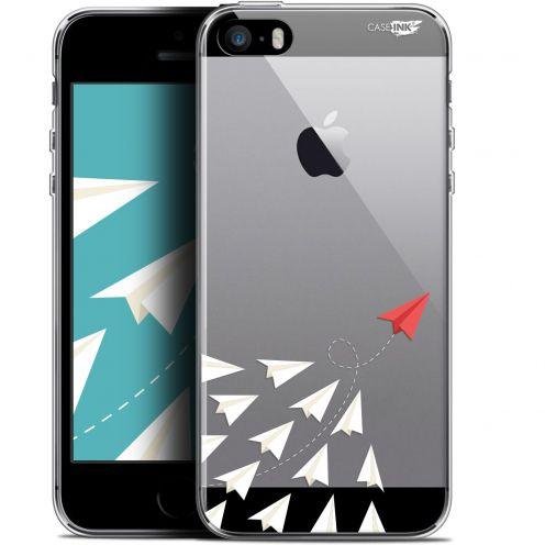 "Coque Gel Apple iPhone 5/5s/SE (4"") Extra Fine Motif -  Papier Volant"