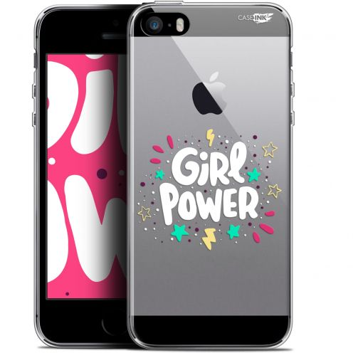 "Coque Gel Apple iPhone 5/5s/SE (4"") Extra Fine Motif -  Girl Power"