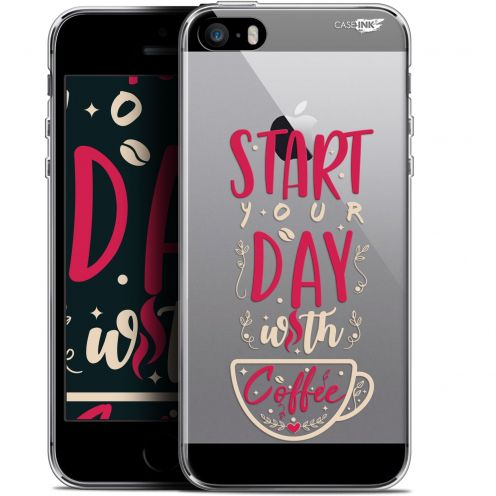 "Coque Gel Apple iPhone 5/5s/SE (4"") Extra Fine Motif -  Start With Coffee"