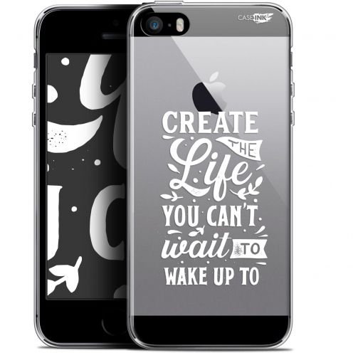 "Coque Gel Apple iPhone 5/5s/SE (4"") Extra Fine Motif -  Wake Up Your Life"