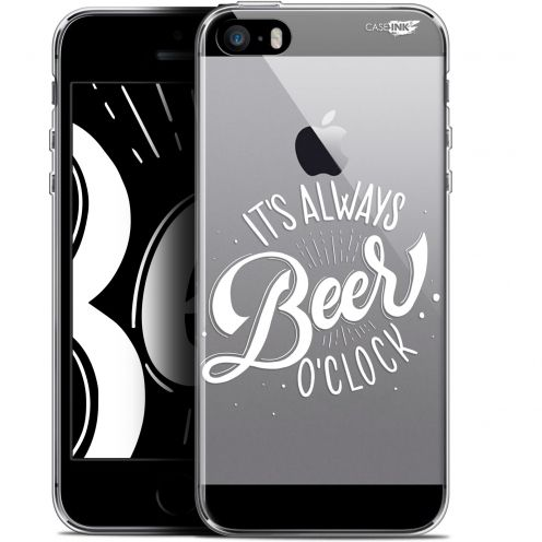 "Coque Gel Apple iPhone 5/5s/SE (4"") Extra Fine Motif -  Its Beer O'Clock"