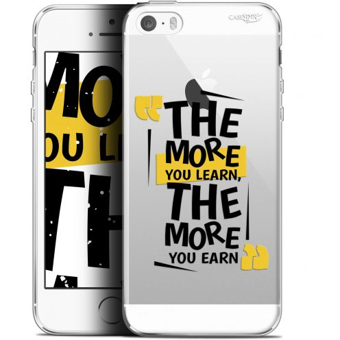 "Coque Gel Apple iPhone 5/5s/SE (4"") Extra Fine Motif -  The More You Learn"