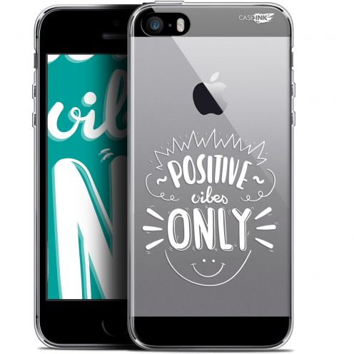 "Coque Gel Apple iPhone 5/5s/SE (4"") Extra Fine Motif -  Positive Vibes Only"