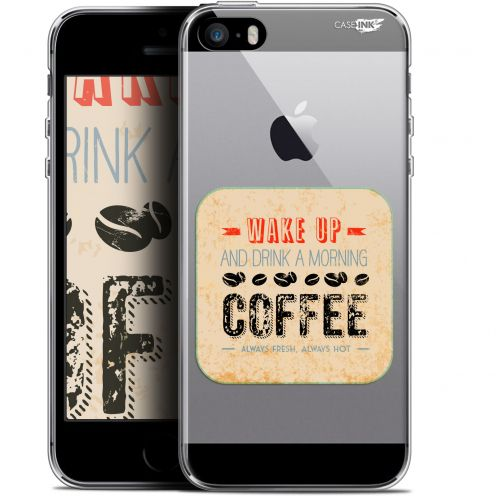 "Coque Gel Apple iPhone 5/5s/SE (4"") Extra Fine Motif -  Wake Up With Coffee"