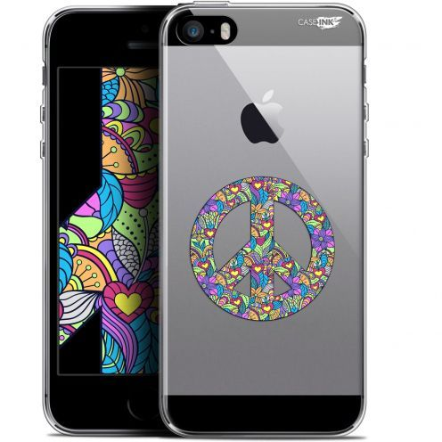 "Coque Gel Apple iPhone 5/5s/SE (4"") Extra Fine Motif -  Peace And Love"